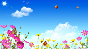 dream_Cloud_with_flower_wallpaper