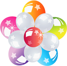 multi colour Balloon PNG image