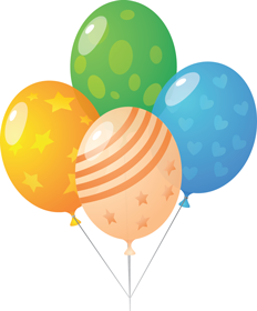Balloon multi colour PNG image