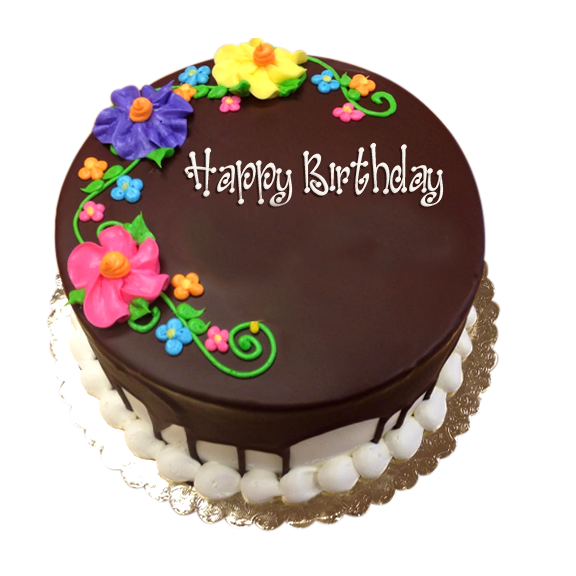 Chocolate cake png with transparent background