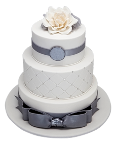 White Happy Birthday cake png