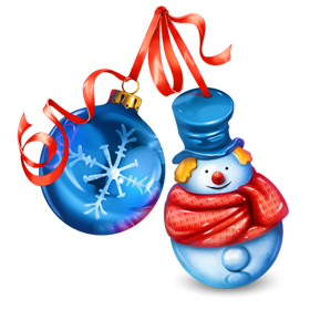 Snowman and ball png