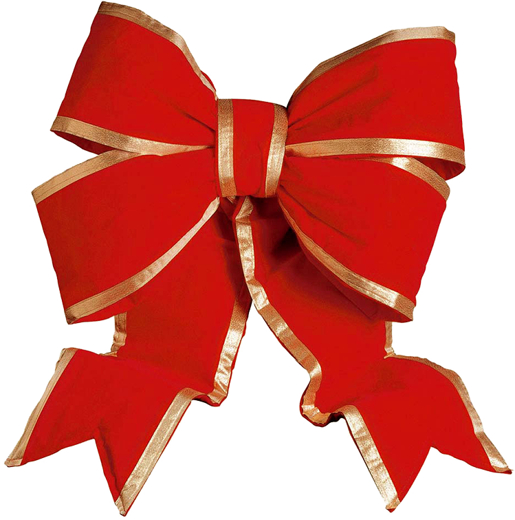 Xmas Bow Png Ribbon With Transparent Background