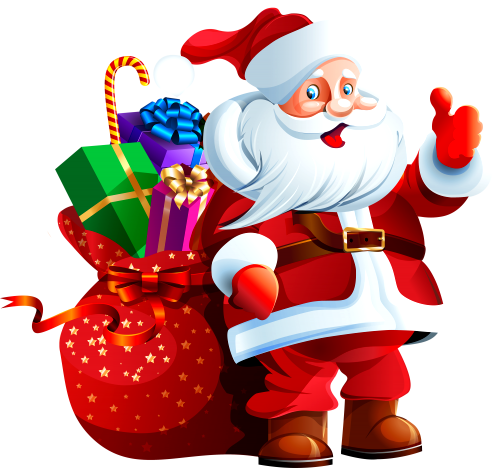 Santa Claus with with Bag of toys