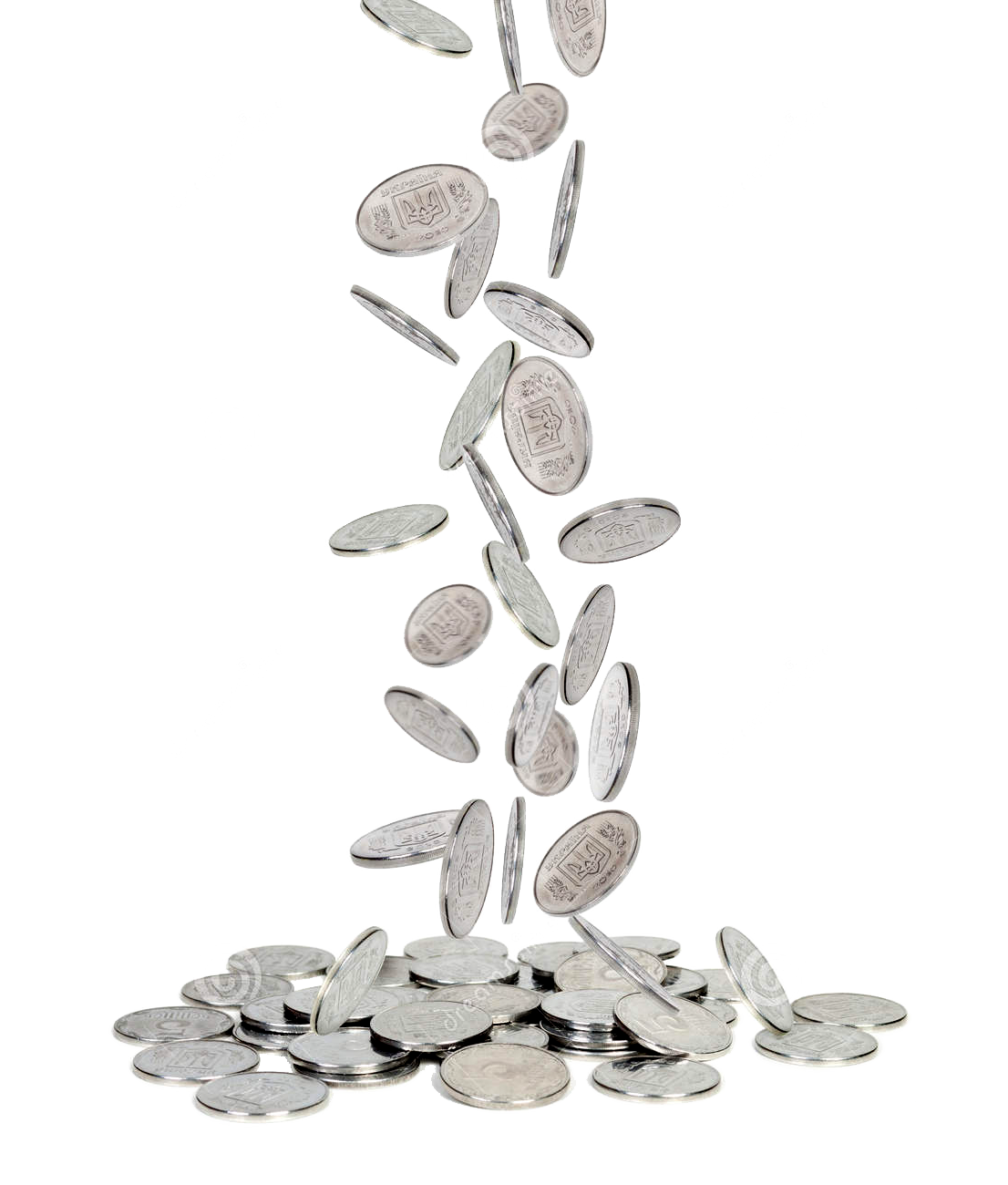 silver coins png falling images free