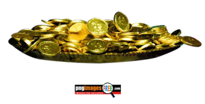 GOLD-Coin-in-Thali-PNG-HD