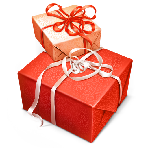Red Gift box png images with bow