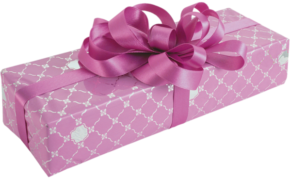 Pink Gift box png with Bow Clipart