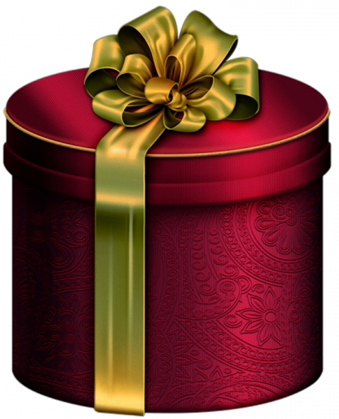 Present Box Red Round png image
