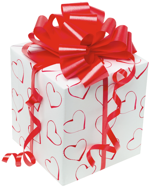Present box with Red Bow Clipart