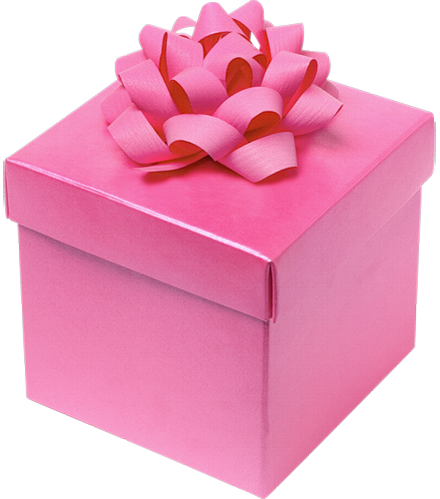 Present gift box Clipart png pink