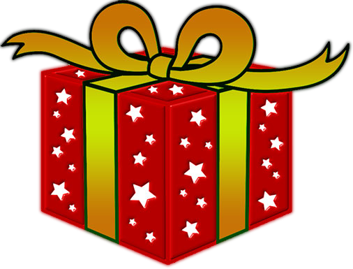 Red gift box png image