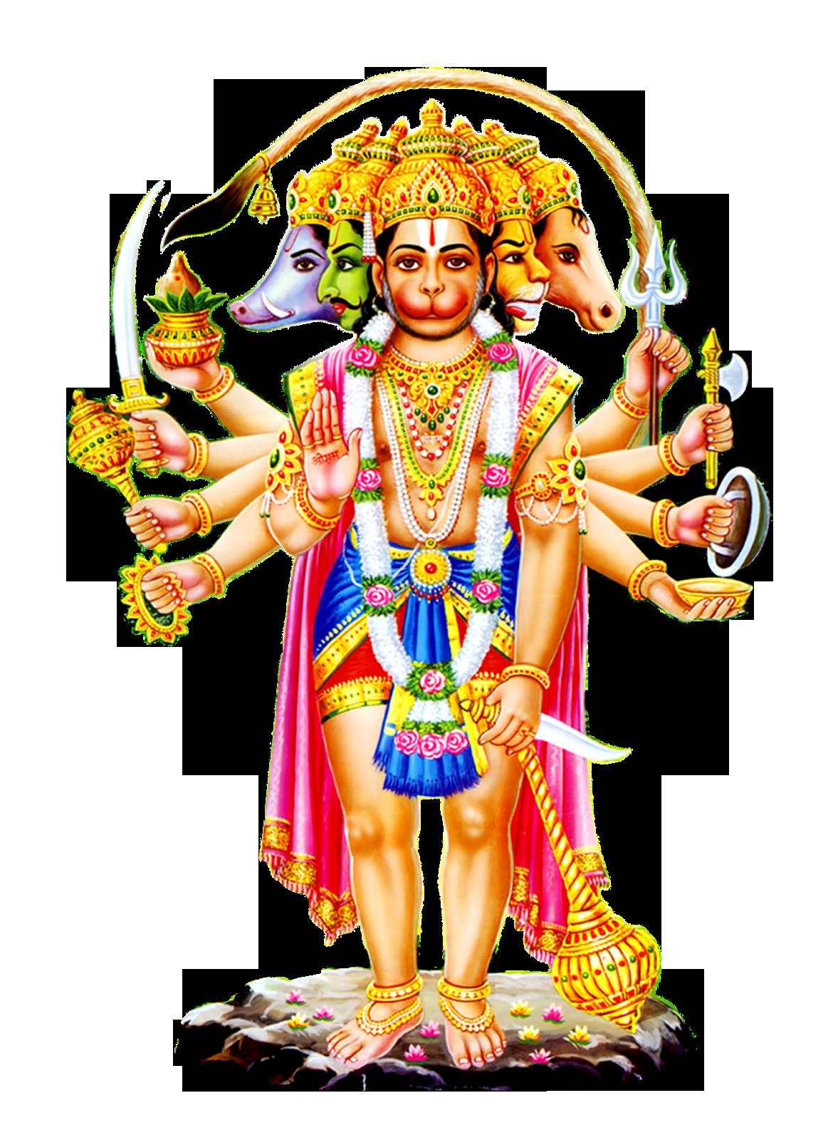 Panchamukhi hanuman hd png photo free - Panchmukhi hanuman image ...