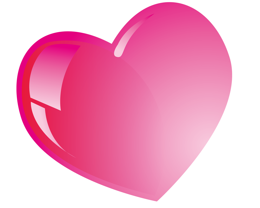 Pink Heart falling Background