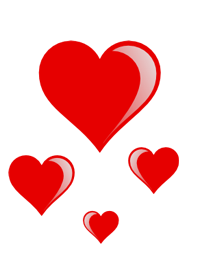 heart cluster PNG image