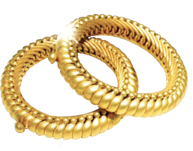 Simple Gold bangle png image, gold psd image
