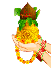 Kalash in Hand clipart png