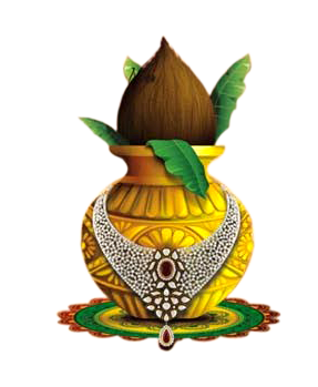 Kalash with Jewellery png image