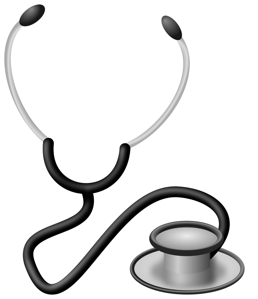 Black and white Stethoscope png images Transparent