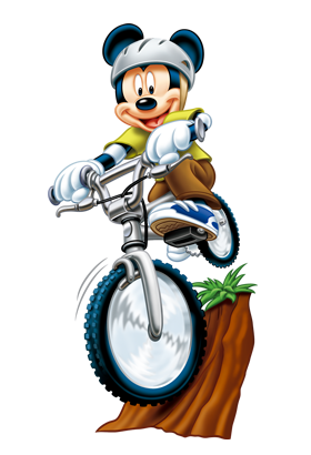 Mickey Mouse on cycle