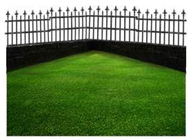 Grass landscap png with fence