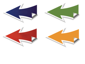 Arrows colletion, blue, red, green png image