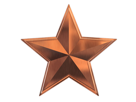 3d star emboss style image