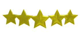Five Star golden colour png image