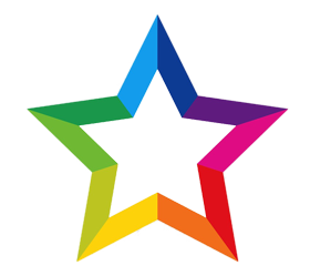 Rainbow Star png multi colour