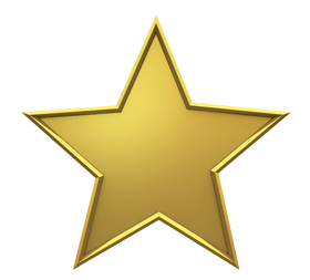 Star golden colour png image