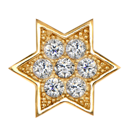 gold star with dimond png image