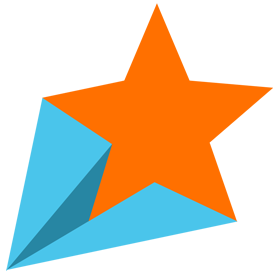 shooting star orange colour png