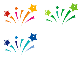 3 type of shooting star png image
