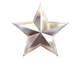 silver star 3d png