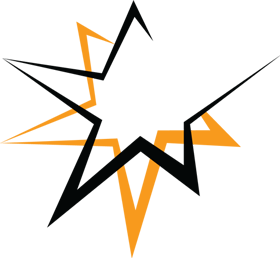 star png black and orange colour