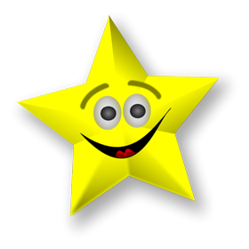 star png with smile face