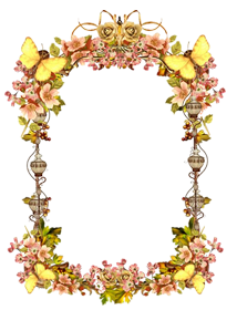 Replica vintage border art photo frame png