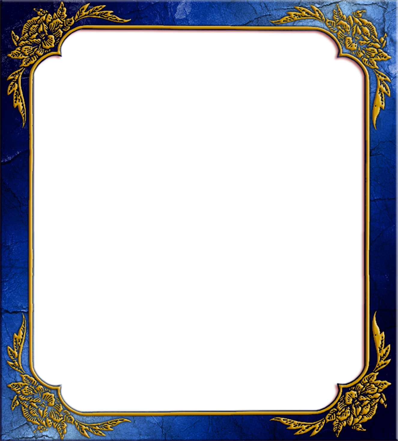 gt;gt; Objects gt;gt; Photo Frame gt; Blue photo frame with Corner P