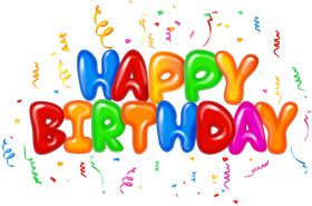 Happy Birthday Text Design PNG