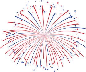 fireworks png with star