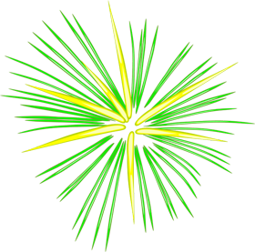 fireworks png yellow