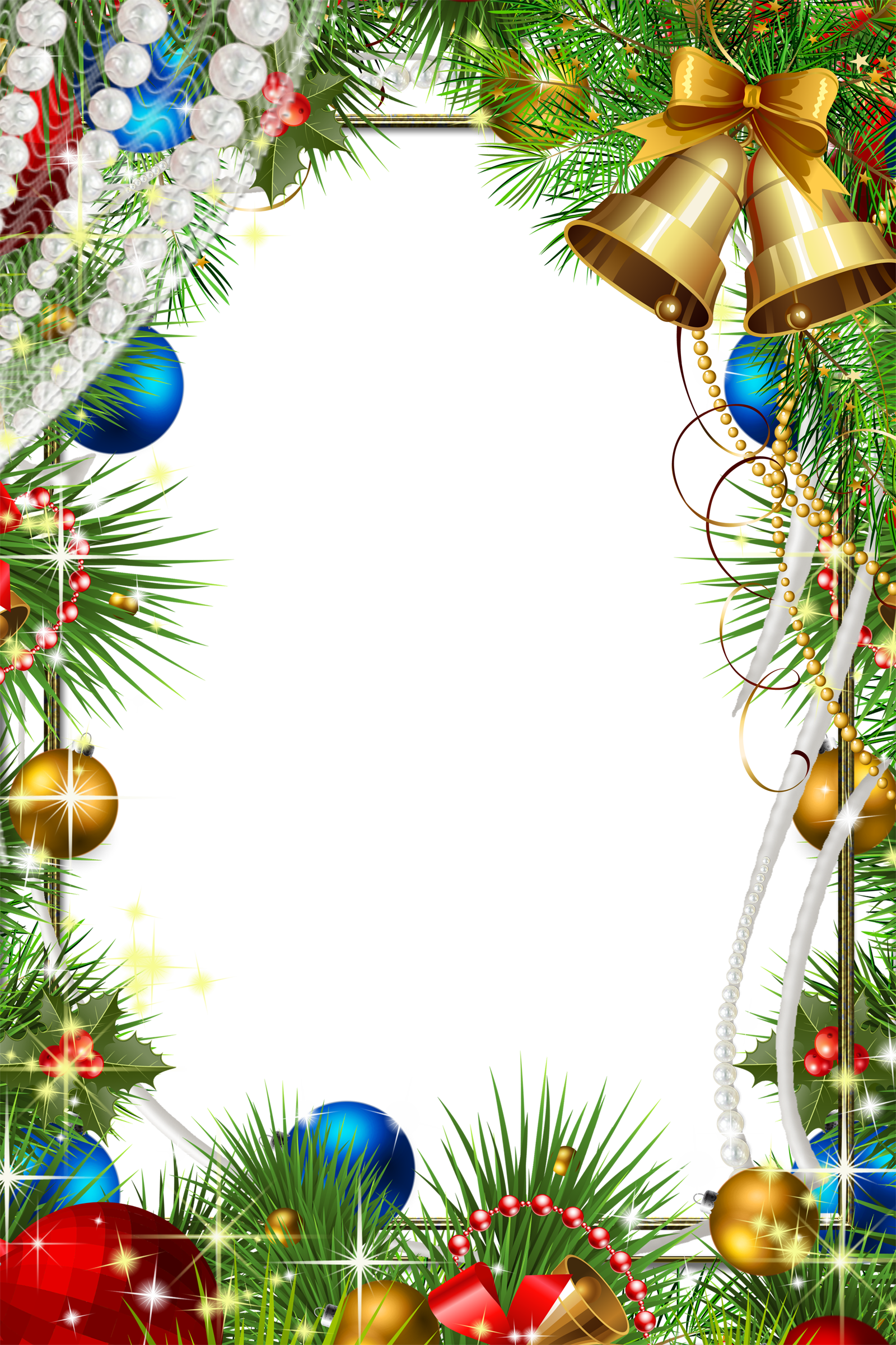 Free CHRISTMAS Frames png images with Transparent Background