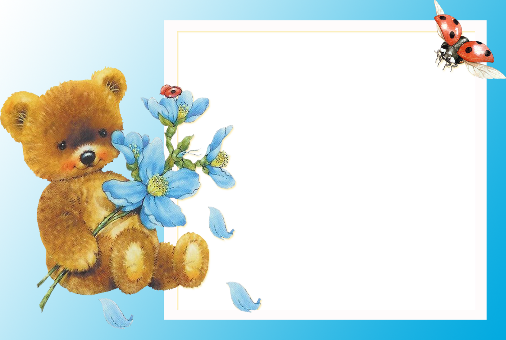 baby picture frame with teddy bear children photo frame 24 png ...