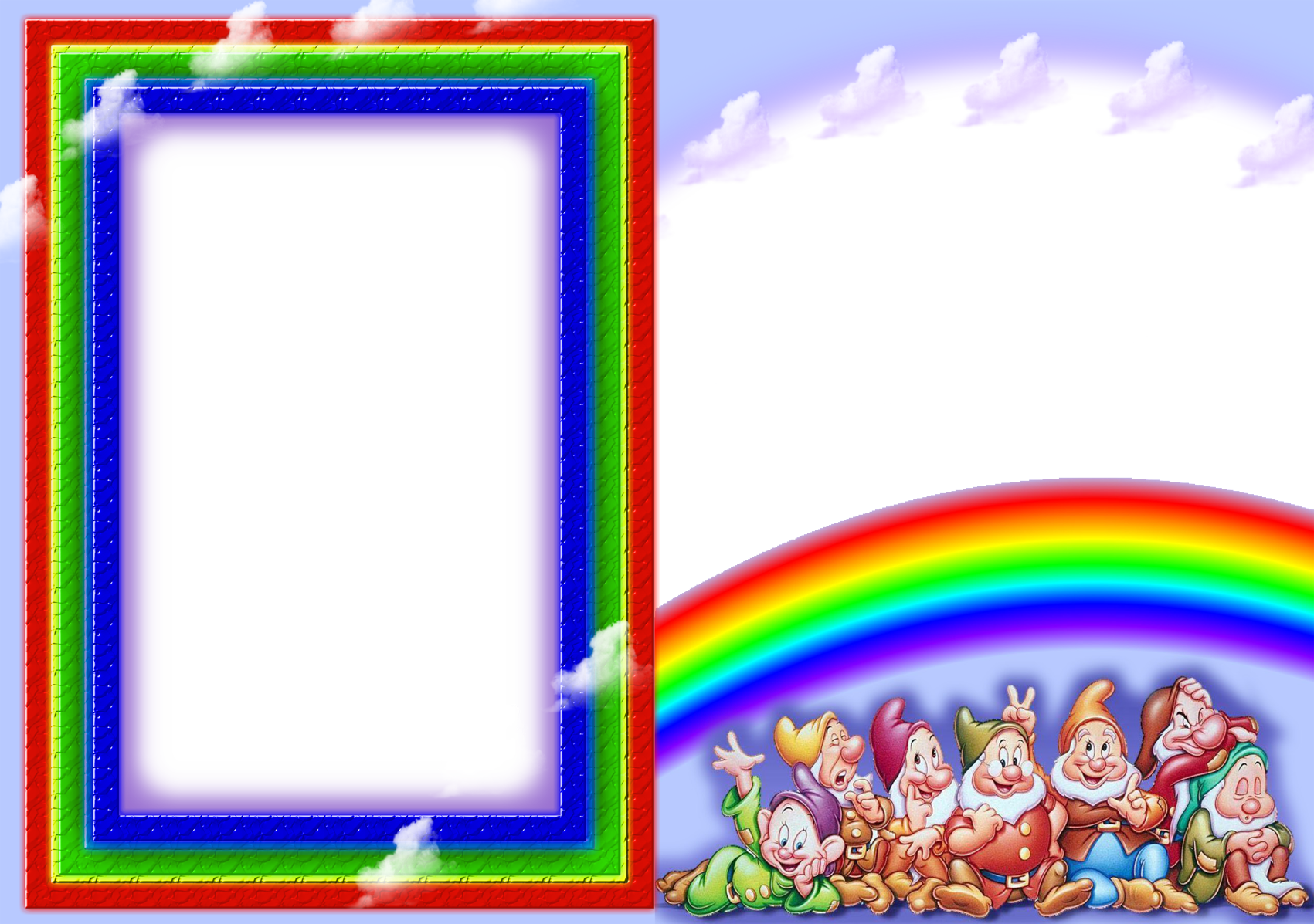 Children Photo Frame PNG PSD images free download