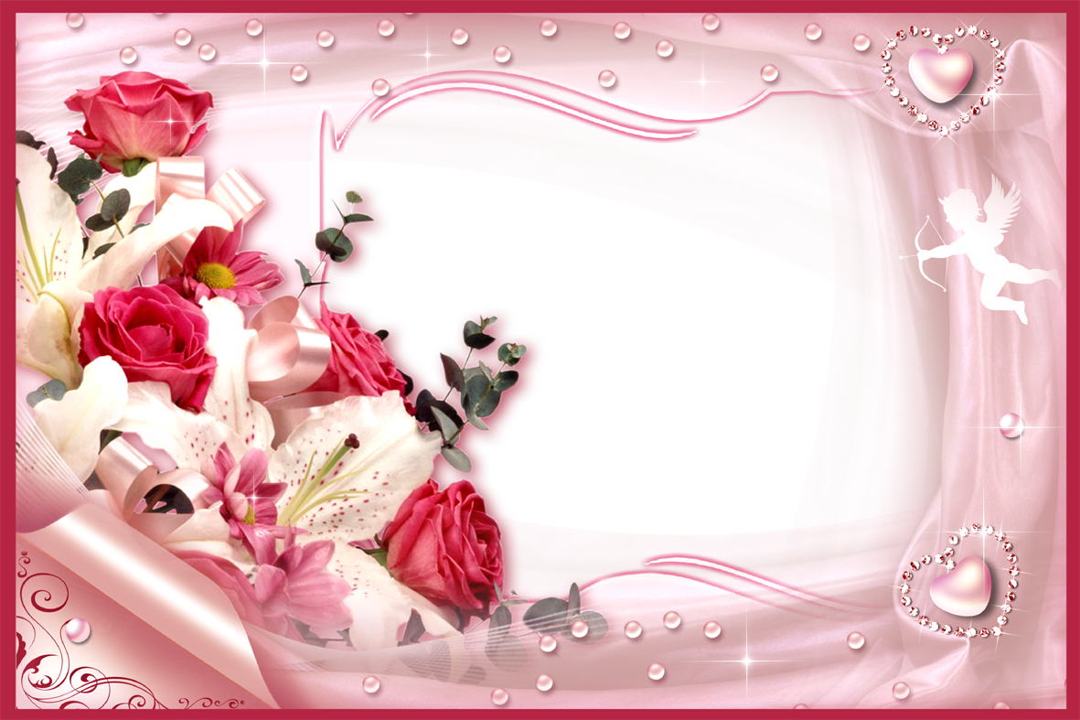 Love Frame Png Transparent Images 1293: White Rose Love Frame Png Free Download 2018 Year Picture