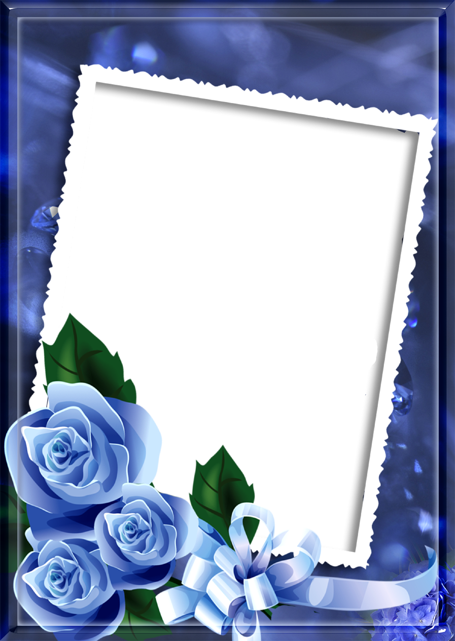 Blue love photo frame png free