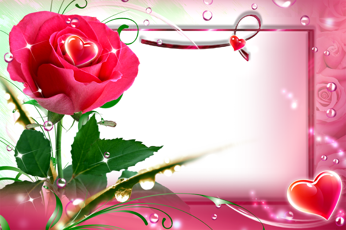 Love photo frame png transparent background