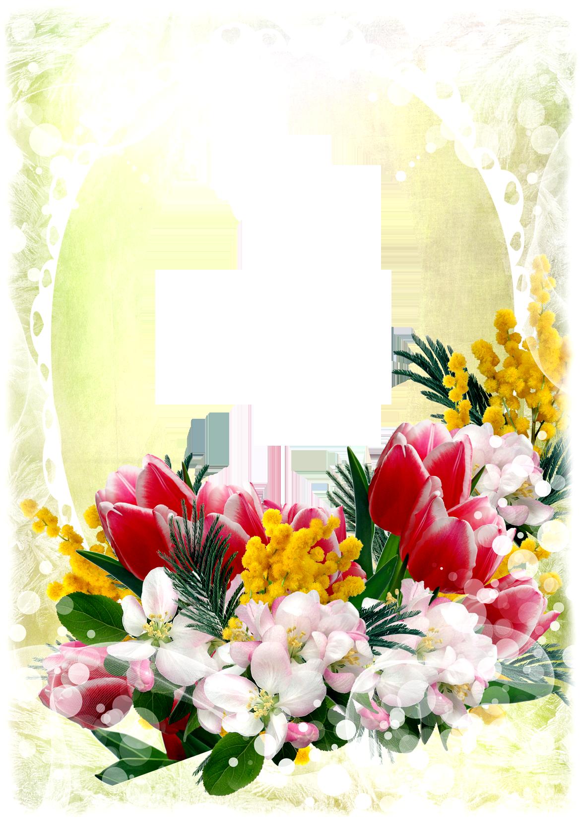 Flower Frame PNG - PSD, vector Free Download