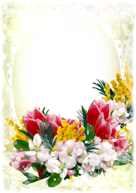 Cute Flower frame png