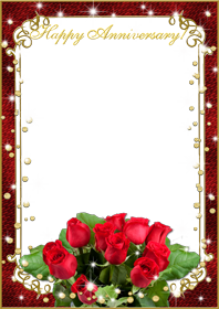 Wedding frame png with flower